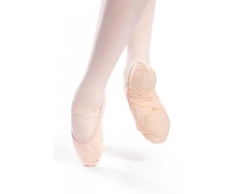 Vegansk balletsko i canvas med spiltsål