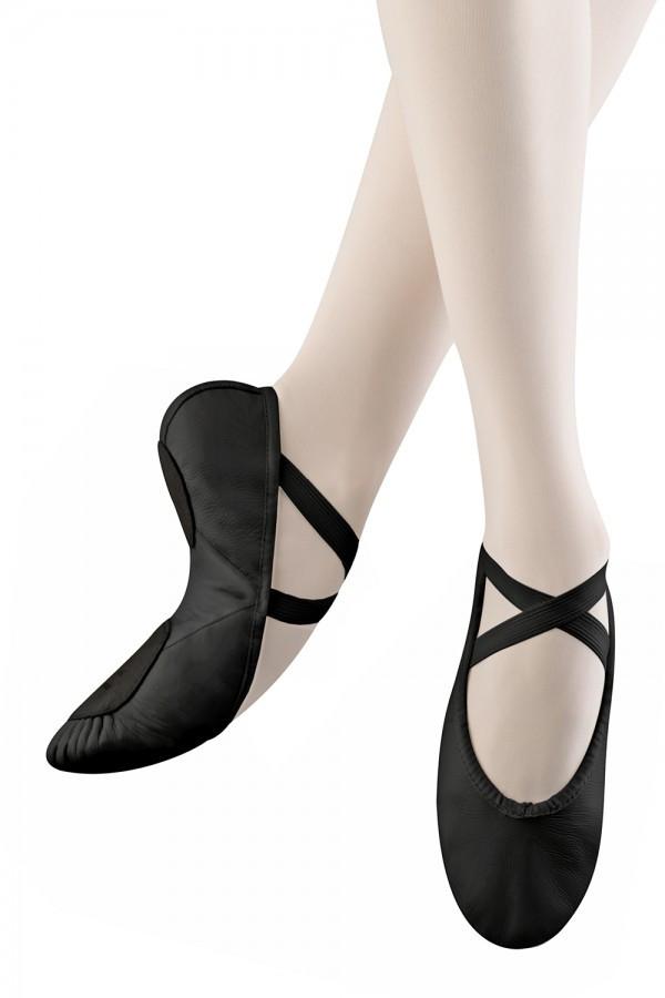 1533571506a Balletsko i læder med splitsål fra Bloch | Stræk og Bøj