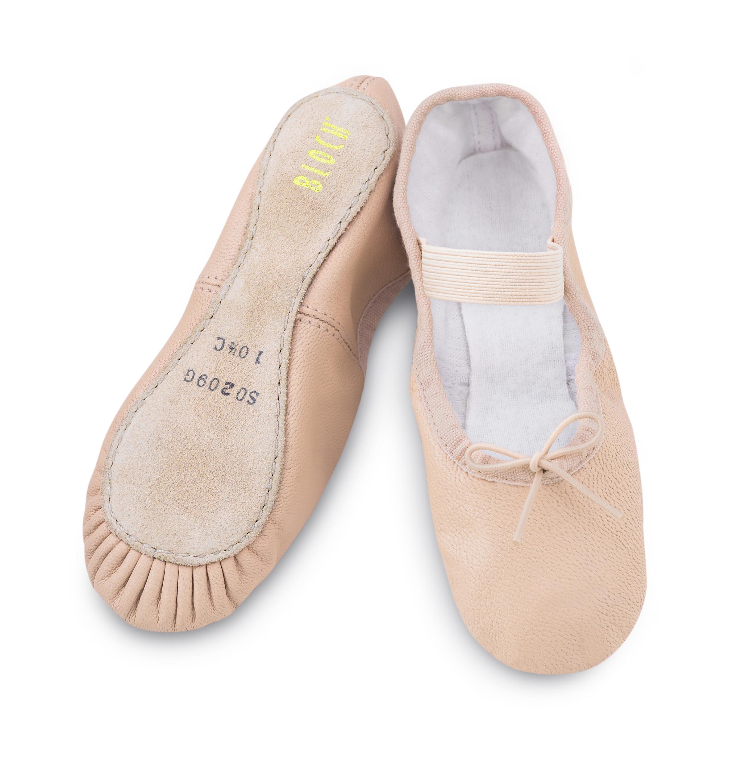 f4c39c12645e Balletsko i læder med fuld sål (Kun på webshop)