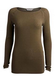 Tynd langærmet bluse i uld