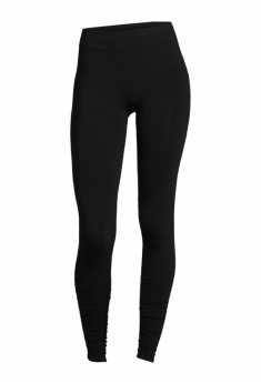 Seamless leggings med rib