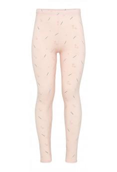 Leggings i bomuld med fint print