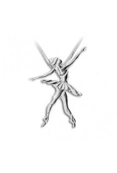 Sølv halskæde med ballerina allongé