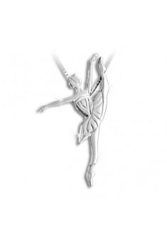 Sølv halskæde med ballerina developpé