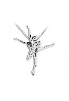 Sølv halskæde med ballerina corsaire
