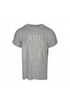 T-shirt med guld print
