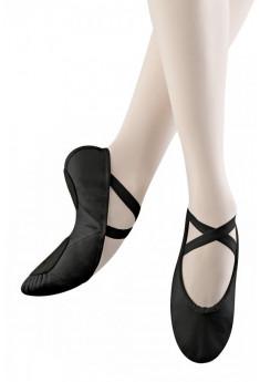 Balletsko i læder med split sål