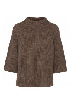 Sweater i uld og viscose