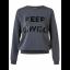 Sweater med print