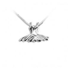 Sølv halskæde med tutu