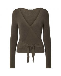Slå om bluse fra Gai + Lisva i en flot brun farve.