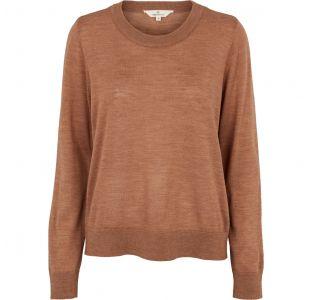 Sweater i 100% merinould fra Basic Apparel