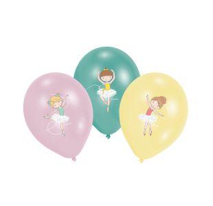 Ballonner med ballerinaer på
