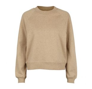 beige sweatshirt fra basic apparel
