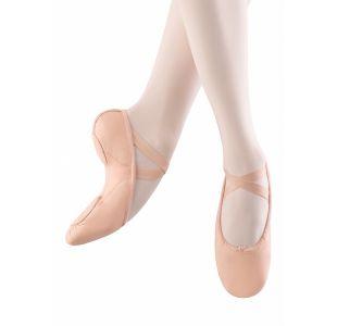 Bloch SO203 Balletsko med splitsål Hudfarvede balletsko Springsko med kryds elastik