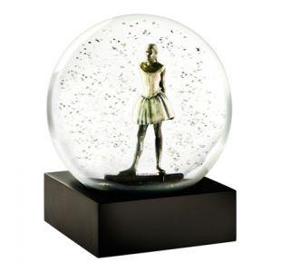 Fin glaskugle i guld Ballerina Glaskugle