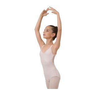Balletdragt i lyserød med flot ryg