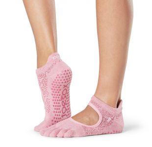 Yogasokker i lyserød med skridsikre dubber