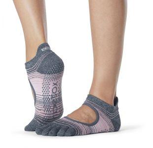 skridsikre Toesox til yoga med striber
