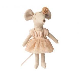 Ballerina mus med hårpynt fra maileg.  Balletmus til de små ballerinaer.