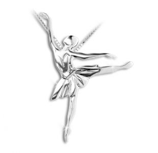 Ballerina sølv halskæde til de små balletbørn
