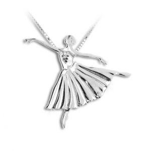 Sølv halskæde med ballerina etudes