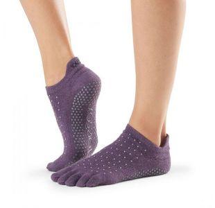 Toesox med sten Yogasokker til yogatræning  lilla toes