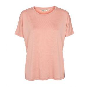Lyserød t-shirts fra Basic Apparel til yoga