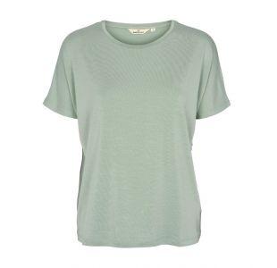 Blød bluse i tencel fra Basic Apparel
