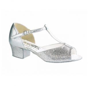 Dansesko i sølv