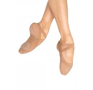 Balletsko i canvas og med splitsål