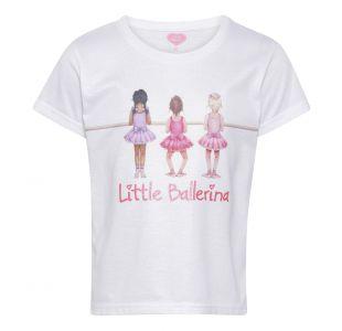 T-shirt med ballerina Ballerina t-shirt T-shirten til balletpige